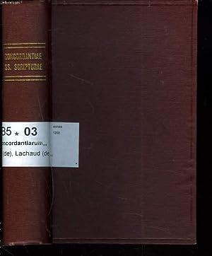 CONCORDANTIARUM SS SCRIPTURAE MANUALE. Editio in commodissimum ordinem disposita et cum ipso textu ...