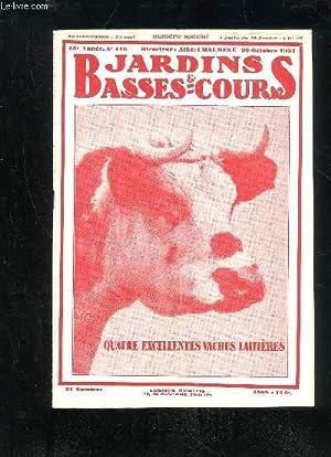 JARDINS ET BASSES-COURS N° 416 - TÊTE DE VACHE NORMANDE. = Couverture. LA RACE BOVINE ...