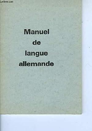 MANUEL DE LANGUE ALLEMANDE: COLLECTIF