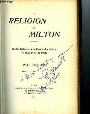 LA RELIGION DE MILTON: CHAUVET Paul