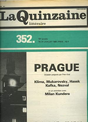 LA QUINZAINE LITTERAIRE, N°352, 16-31 JUILLET 1981.: MAURICE NADEAU (DIRIGE