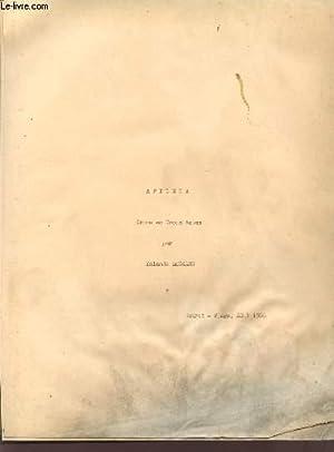 APILEIA / DRAME EN TROIS ACTES.: LEGRAND YOLANDE