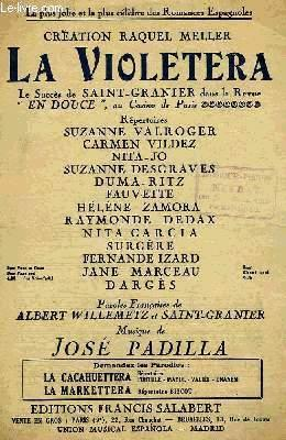 LA VIOLETERA: PADILLA José / WILLEMETZ Albert / SAINT-GRANIER