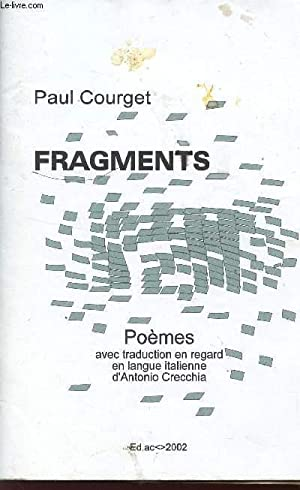 FRAGMENTS - POEMES.: COURGET PAUL