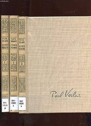 OEUVRES POETIQUES DE PAUL VERLAINE. 3 TOMES.: VERLAINE PAUL