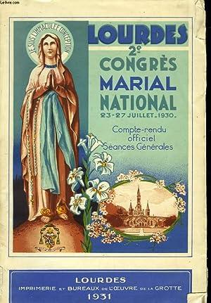 CONGRES MARIAL NATIONAL DE LOURDES. 23-27 JUILLET 1930.: COLLECTIF