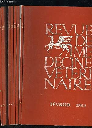 REVUE DE MEDECINE VETERINAIRE - TOME 135 11 NUMEROS: COLLECTIF