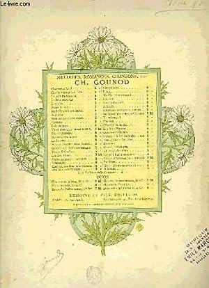 MELODIES, ROMANCES, CHANSONS, ETC: GOUNOD Charles