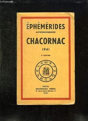 EPHEMERIDES ASTRONOMIQUES CHARCONAC 1941.: COLLECTIF.