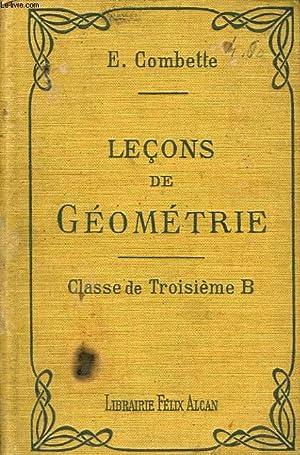 LECONS DE GEOMETRIE, CLASSE DE 3e B: COMBETTE E.