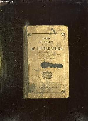 ABREGE DU TRAITE THEORIQUE ET PRATIQUE DE LITTERATURE. 12em EDITION.: LEFRANC EMILE.