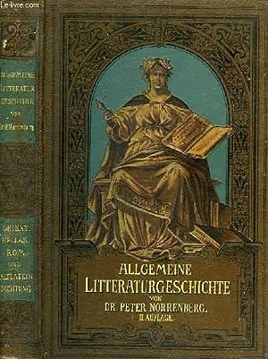 ALLGEMEINE LITTERATURGESCHICHTE: NORRENBERG Dr. PETER