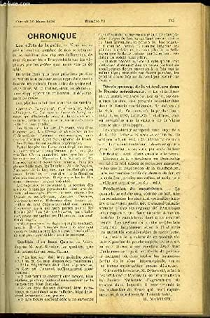 LE PETIT JARDIN ILLUSTRE N° 73 - Chronique, H. Martinet ; Plantes Florales ; Sur la mosaïculture, ...