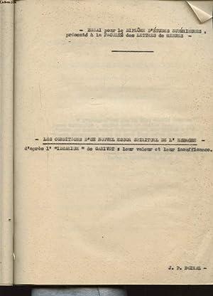 ESSAI POUR LE DIPLOME D ETUDES SUPERIEURES: J. P. BOIRAL