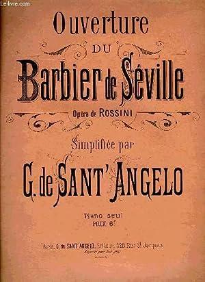 OUVERTURE DU BARBIER DE SEVILLE: DE SANT'ANGELO G.