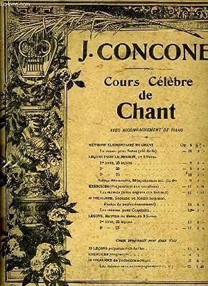 COURS DE CHANT CELEBRE: CONCONE J.