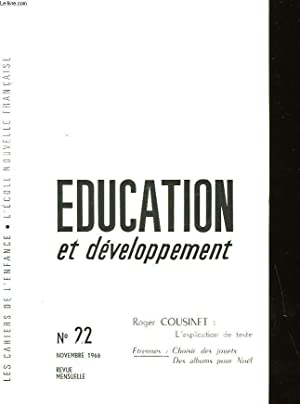 EDUCATION ET DEVELOPPEMENT: COLLECTIF