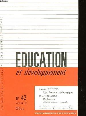EDUCATION ET DEVELOPPEMENT N°42: COLLECTIF