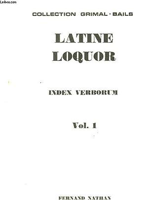 LATINE LOQUOR - VOL 1: NON PRECISE