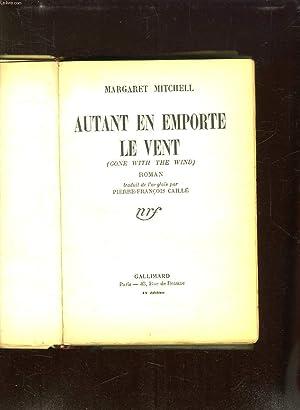 AUTANT EN EMPORTE LE VENT. GONE WITH: MITCHELL MARGARET.