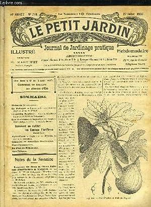 LE PETIT JARDIN ILLUSTRE N° 716 - Notes de la semaine.Le Potager. — Peut-on cueillir dis &iexcl...