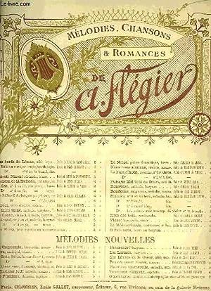 MELODIES, CHANSONS ET ROMANCES: FLEGIER A.