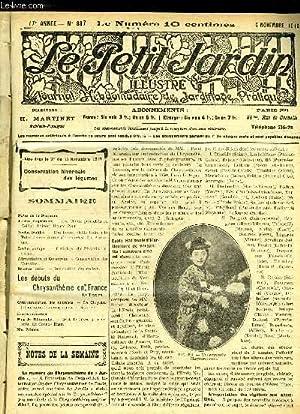 LE PETIT JARDIN ILLUSTRE N° 887 - Notes de la Semaine.Jardin d agrément.   Les Choux panachés ou ...