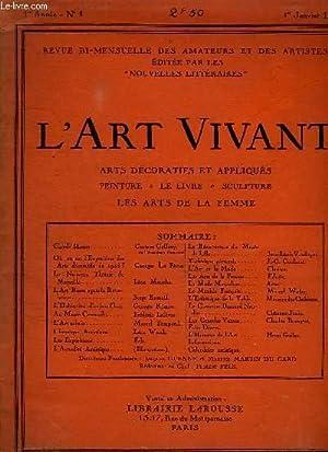 L ART VIVANT N° 1 1er ANNEE: COLLECTIF.