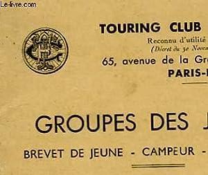 GROUPES DES JEUNES - BREVET DE JEUNE - CAMPEUR - RANDONNEUR: TOURNOI CLUB DE FRANCE