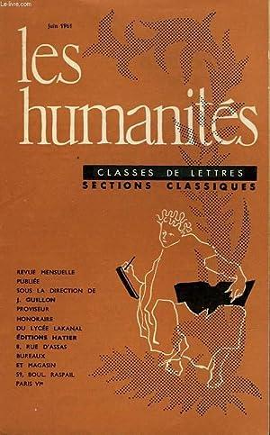 LES HUMANITES - CLASSE DE LETTRES - JUIN 1961: COLLECTIF