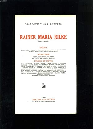 RAINER MARIA RILKE 1875-1926: COLLECTIF