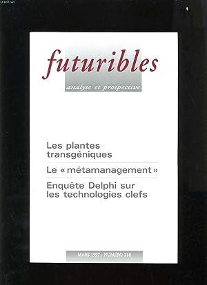 FUTURIBLES ANALYSE ET PROSPECTIVE N°218 - LES: COLLECTIF