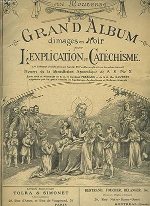 GRAND ALBUM D'IMAGES EN NOIR POUR L'EXPLICATION DU CATECHISME. FASCICULE N°1.: ABBE ...