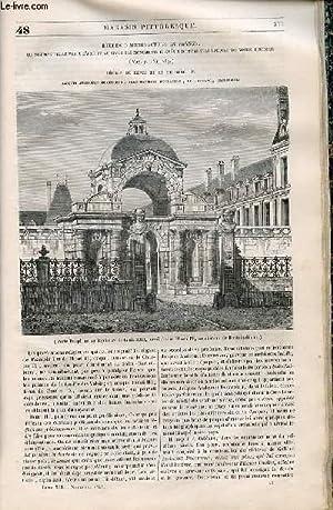 LE MAGASIN PITTORESQUE - Livraison n°048 - Etudes d'architecture en France - régnes...