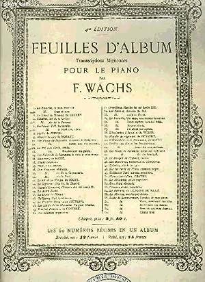 FEUILLES D'ALBUM: WACHS F.