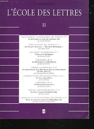 L'ECOLE DES LETTRES, SECOND CYCLE, N°4, 1er: JEAN DELAS (DIRECTEUR)