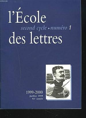 L'ECOLE DES LETTRES, SECOND CYCLE, N°1, JUILLET: JEAN DELAS (DIRECTEUR)