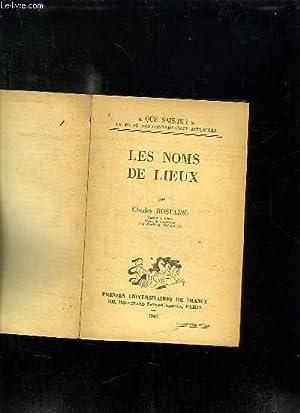 LES NOMS DE LIEUX.: ROSTAING CHARLES.