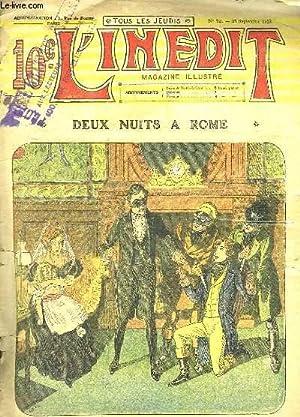 L INEDIT N° 72 DU 25 SEPTEMBRE 1913. DEUX NUITS A ROME.: BEUVE EMILE LE GERANT.