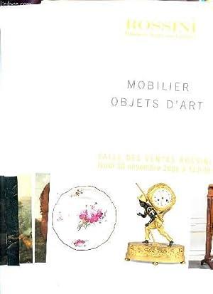 LOT DE 7 BROCHURES : OBJETS D'ART: ROSSINI - MAISON