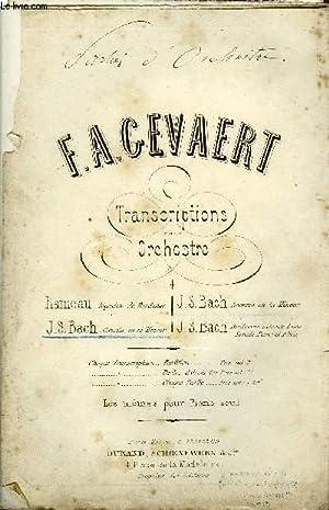 TRANSCRITPTIONS POUR ORCHESTRE: GEVAERT F.A.