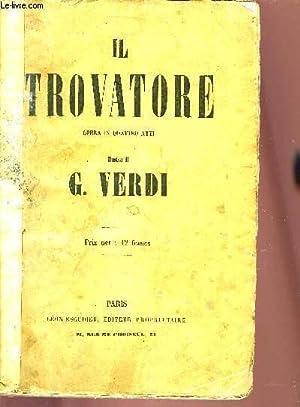 IL TROVATORE: VERDI G.