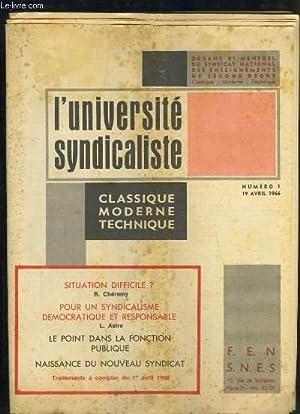 L'université syndicaliste N°1 : Situation difficile ? par Chéramy - Pour un syndicalisme ...