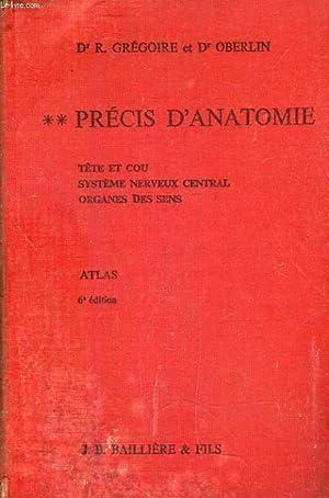 PRECIS D'ANATOMIE, TOME II, TETE ET COU,: GREGOIRE Dr R.,