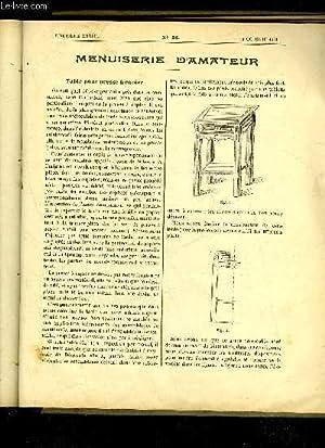 JOURNAL DE L'AMATEUR DES TRAVAUX MANUELS N° 58 - TABLE POUR PRESSES A COPIER, FERRONERIE D...