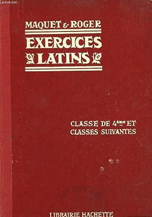 EXERCICES SUR LA GRAMMAIRE LATINE - COMPLETE: MAQUET CH. ET