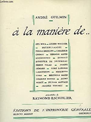 A LA MANIERE DE .: GUILMIN ANDRE