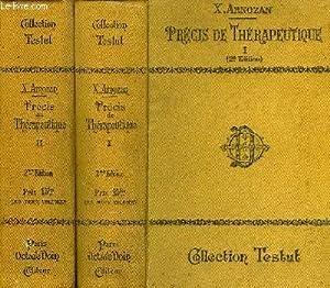 PRECIS DE THERAPEUTIQUE, TOME I, TOME II: ARNOZAN XAVIER