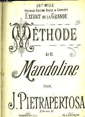 METHODE DE MANDOLINE: PIETRAPERTOSA J.