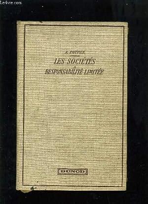 LES SOCIETES A RESPONSABILITE LIMITEE: A. POTTIER